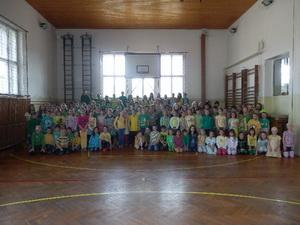 První barevný den na naší škole!