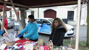 Stánek na vánočních trzích