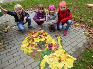 Podzimní tvoření při výtvarném kroužku